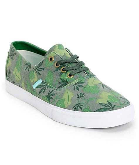 supply co cuts green camo canvas shoes