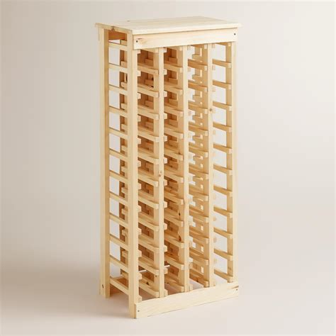 Wall Mounted Shelves by Pine 44 Bottle Wine Rack World Market