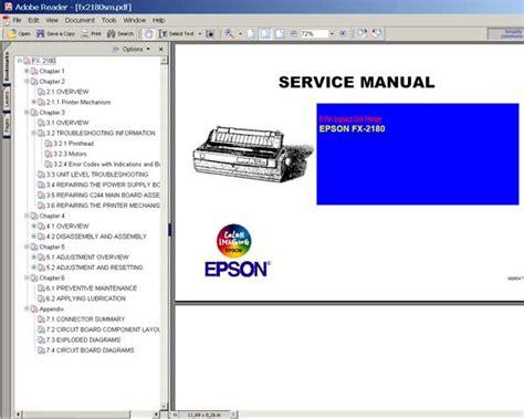 reset printer epson lq 2180 epson fx 2180 printer service manual service manuals