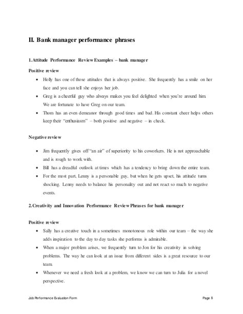 Appraisal Engagement Letter Bank Bank Manager Performance Appraisal