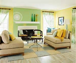 gelbe wohnzimmer yellow and green living room for the home