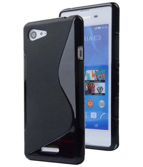Back Cover Sony Xperia E 3 s black back cover for sony xperia e3 dual plain