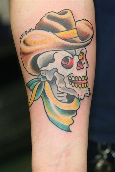 cowboy skull tattoo designs cowboy tattoos