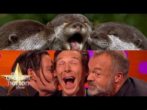 Cumberbatch Otter Meme - benedict cumberbatch johnny depp and graham take otter