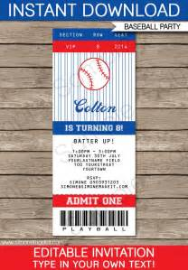 ticket stub invitation template baseball ticket invitation template birthdays helpful