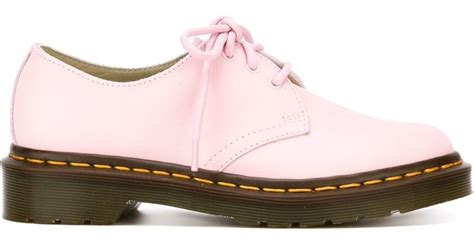 pink oxford shoes dr martens 3 eye oxford shoes in pink pink purple lyst