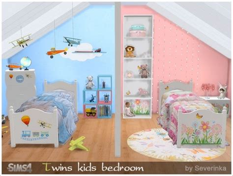 bedroom for 4 kids twins kids bedroom at sims by severinka 187 sims 4 updates