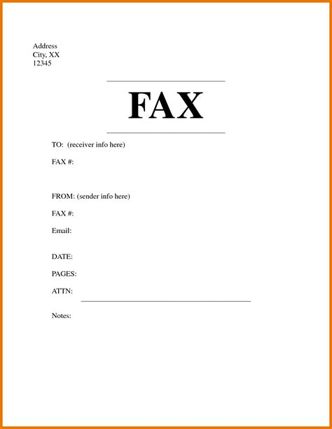fax cover sheet template for pages 8 fax cover sheet doc bibliography format