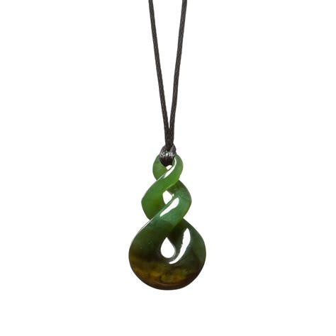 new zealand flower jade pikorua twist necklace mountain