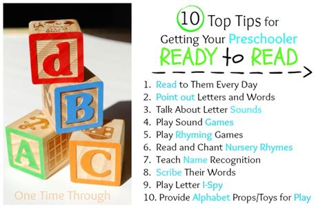10 Top Tips On Getting Ready For Exams by Early Reading Activities And Tips One Time Through