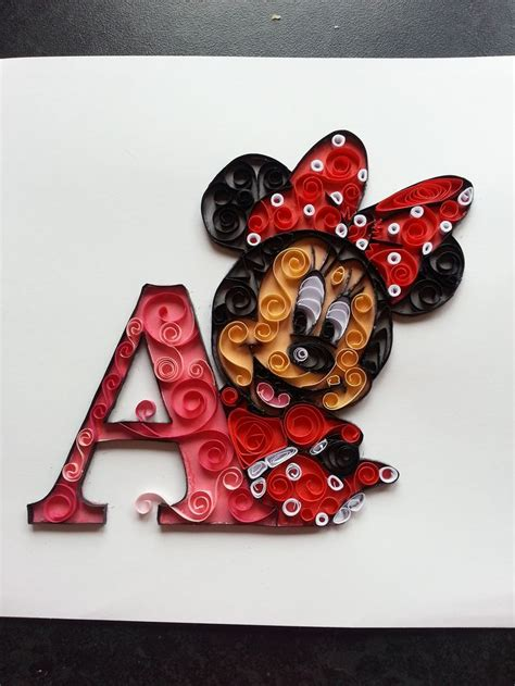 quilling mouse tutorial quilling quilled minnie mouse www facebook com