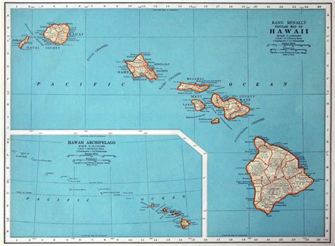 map of hi 1937 vintage map of hawaii