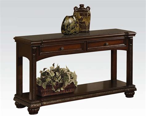 Traditional Sofa Table In Cherry Anondale By Acme Traditional Sofa Tables