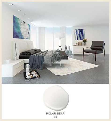 behr paint color polar polar 75 helps make this bedroom feel effortlessly