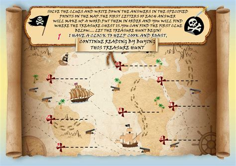 Treasure Hunt treasure hunt with map for house solution wardrobe griphos