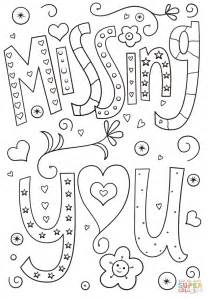 you doodle free missing you doodle coloring page free printable coloring