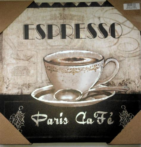 Coffee Themed Home Decor | coffee theme espresso paris cafe bistro canvas pictures