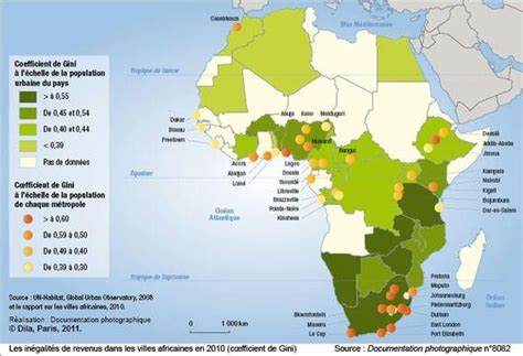 africa map 2010 inequalities in incomes gini 2010 map showing