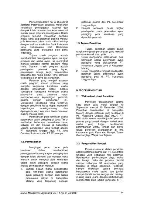 Jurnal Wacana Vol11 No2 jurnal manajemen agribisnis vol 11 no 3 juli 2011