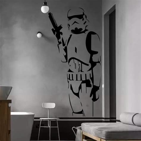 star wars living room diy star wars character wall stickers suitable for the