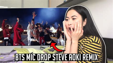 bts mic drop mp3 bts mic drop steve aoki remix official mv reaction