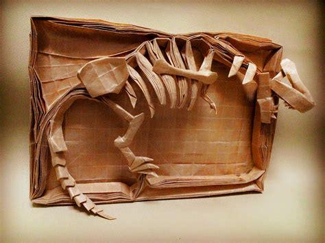 Origami Dinosaur Skeleton - mind blowing origami dinosaur skeletons origami me