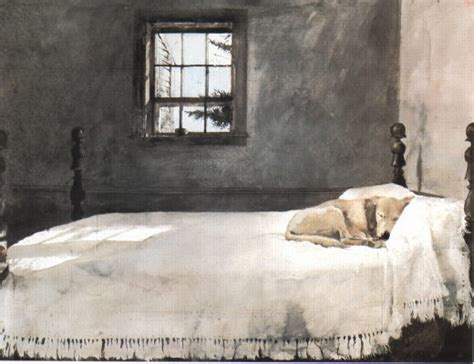 dogs sleeping in bedroom andrew wyeth master bedroom at the chadds ford gallery