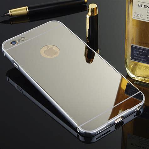 Luxury Mirror For Iphone 5 5s 6 6s Fullc Aksesoris Hp Termurah for apple iphone 6 6s 6 plus new luxury aluminum mirror