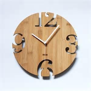 unique wall clocks unique bamboo wall clock numeric cutter
