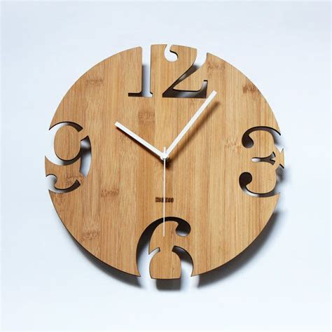 wooden clocks unique bamboo wall clock numeric cutter