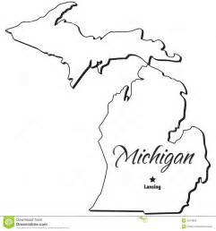 Outline Of Michigan State by Michigan State Outline Clipart