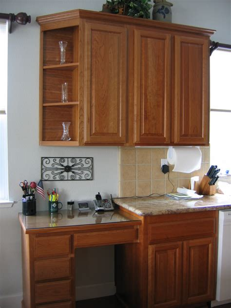 kitchen desk cabinet ideas