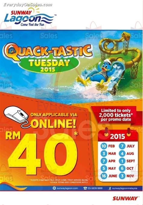 theme park vouchers 2015 sunway lagoon tuesday entrance tickets promotion 2015