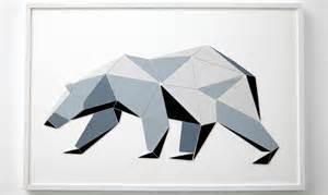 Technology Office Decor diy wall art geometric polar bear craft x press it
