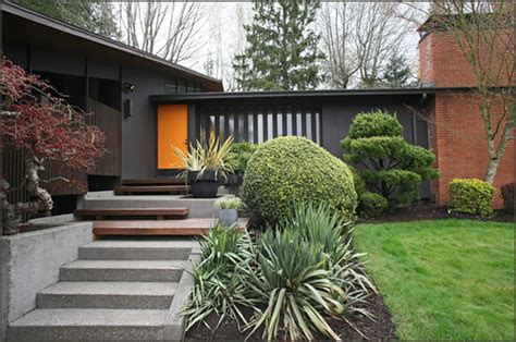 mid century modern house exterior beautiful  house