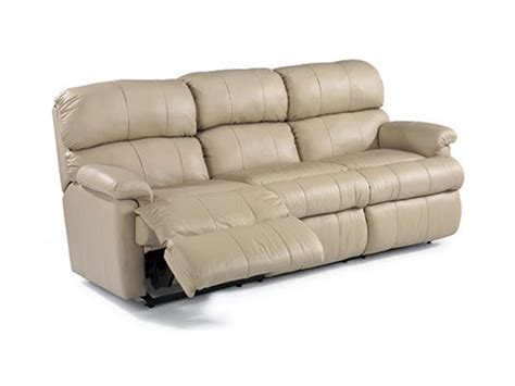 flexsteel living room leather reclining sofa 3066