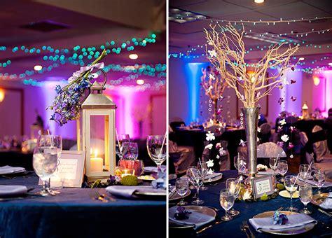 classic  eclectic purple  blue wedding