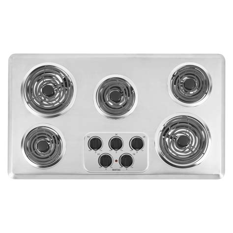 36 electric cooktops maytag mec4536wc 36 quot electric cooktop sears outlet