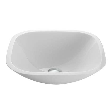 white square vessel vigo square shaped phoenix stone glass vessel in