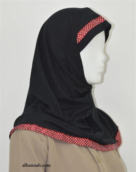 Jilbab Polkadot alamirah with polka dot applique ch506