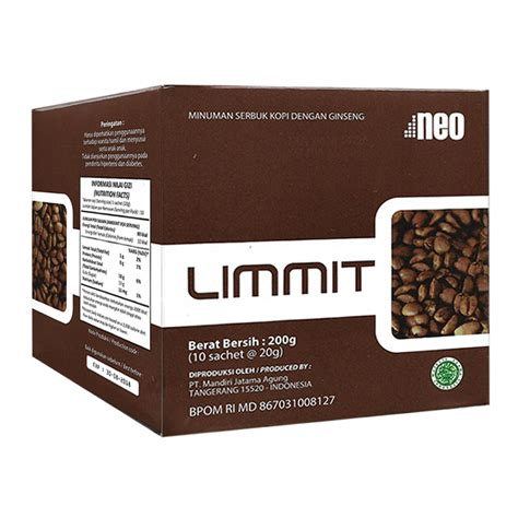 Coffee Limmit neo limmit 10 sachet kopi stamina pria gogobli