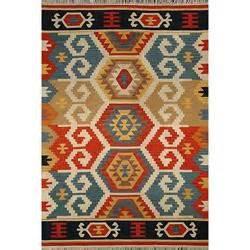 kilim rugs overstock handmade ushak kilim multi wool area rug 5 x 8 overstock
