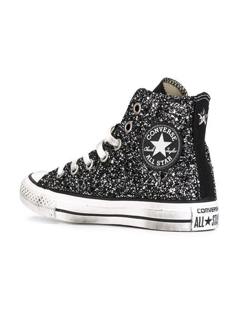 converse glitter sneakers lyst converse all glitter hi top sneakers in