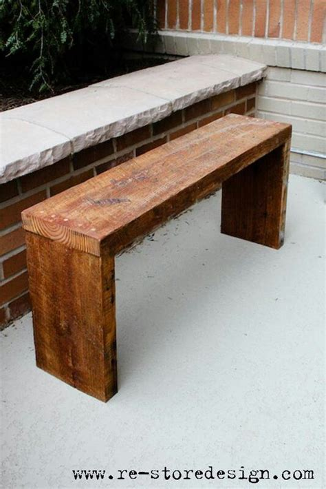 easy outdoor bench easy diy benches home making diy pinterest