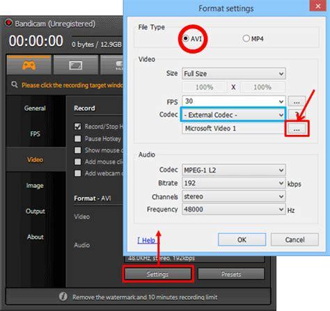 format factory x264 codec bandicam vfw video for windows x264 lagarith lossless