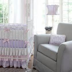 Lilac Crib Bedding Lilac And Silver Gray Damask Crib Bedding Baby Crib Bedding Carousel Designs
