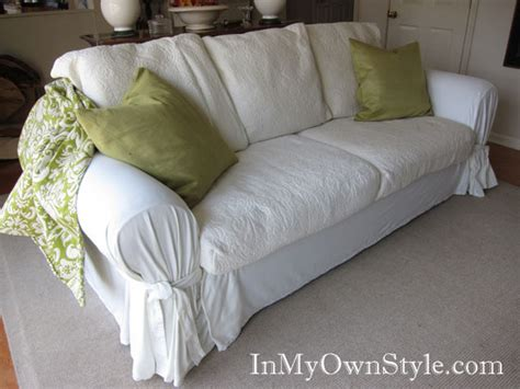 how to slipcover a sofa how to cover a chair or sofa with a fit slipcover in my own style