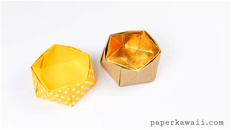 Origami Pot - geometric origami bowl paper kawaii