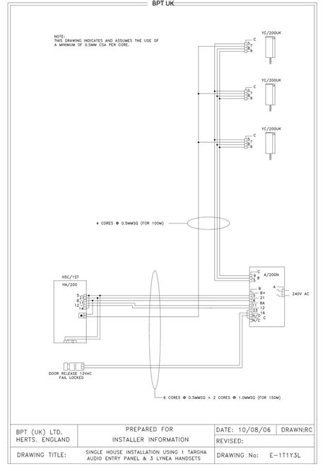 bpt wiring diagrams system 200 and fermax intercom diagram