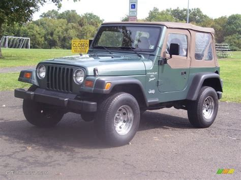 1999 medium fern green pearlcoat jeep wrangler sport 4x4 54418612 gtcarlot car color